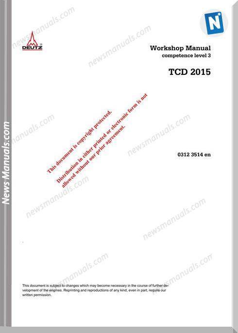 Deutz Tcd 2015 Workshop Manual Manual Workshop Electrical Diagram