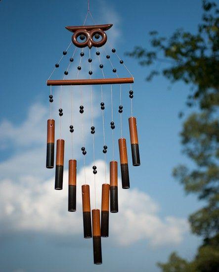 Owl wind chimes