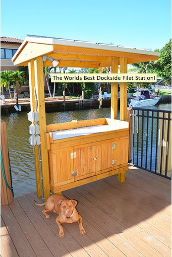 Filet stations are custom made to your liking are we for Dock fish cleaning station