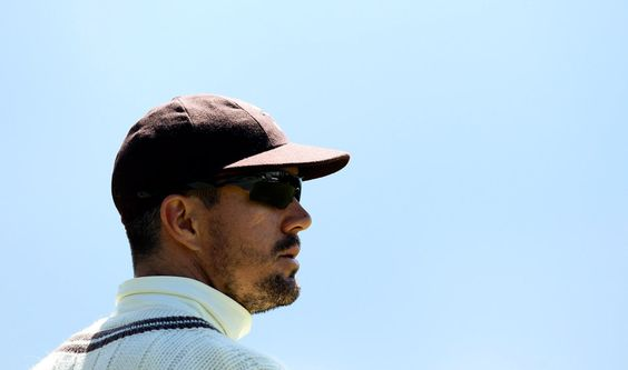 GUILDFORD, ENGLAND - JULY 11: Kevin Pietersen of Surrey looks on during the LV County Championship match between Surrey and Lancashire at Guildford Cricket Club on July 11, 2012 in Guildford, England.