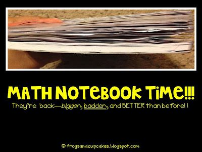 Math Notebooking for Next Year.