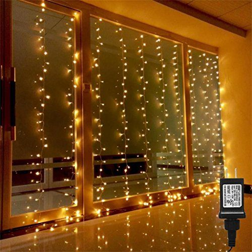 AMARS Linkable Safe 30V Bedroom String LED Curtain Lights ...