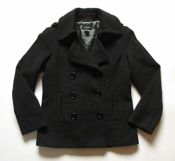 Details about J.CREW WOMENS XS extra small CLASSIC BLACK WOOL ...