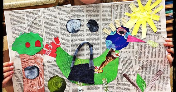 My Third Grade students have been working on a mixed media collage with a bird theme. We looked at the art of Allison Strine . She is a Ge...