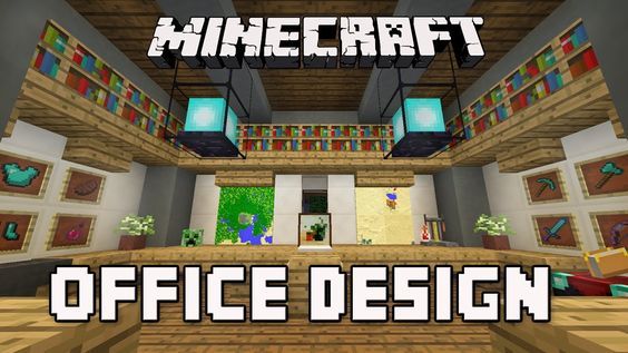 Goodtimeswithscar Minecraft Tutorial How To Build An Office A Modern House Episode 8