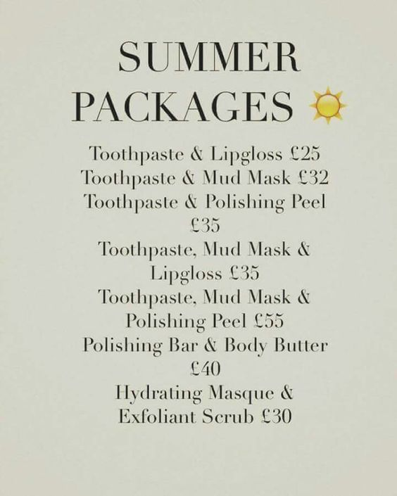 Summer Packages !!! #LoveBeauty