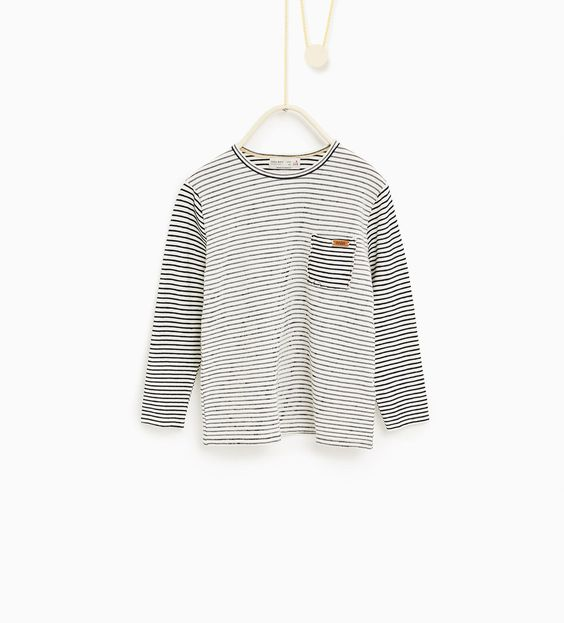 ZARA - ENFANTS - T-shirt à rayures assorties