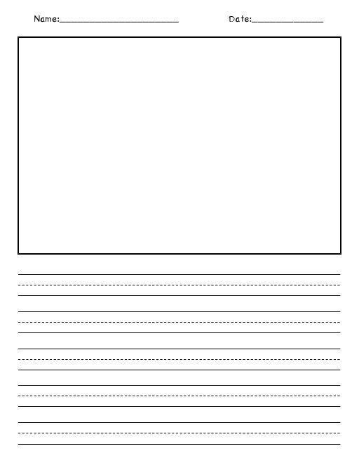 Blank Picture And Writing Paper Pdf Google Drive With Images