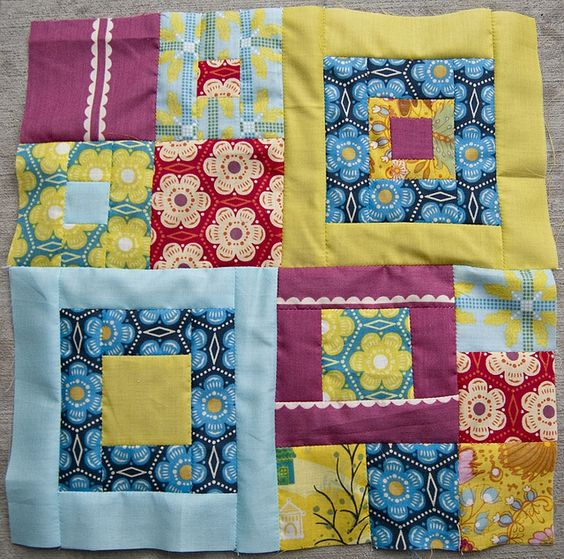 Squaretastic Block for Elizabeth by Pitter Putter Stitch, via Flickr