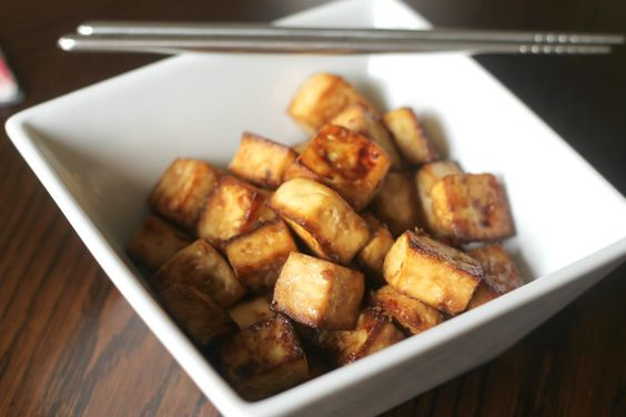 Easy Baked Tofu - Tofu, tamari, honey or maple syrup, rice wine ...