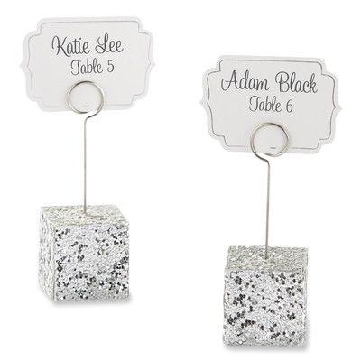 Kate Aspen Glitter Place Card Holders (Set of 3)