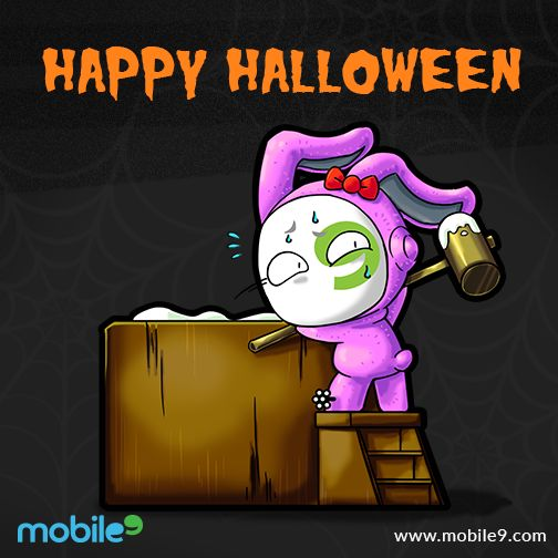 Happy Halloween   Moon Bunny Greeting Cards, Ecards And Picture Message.  Tap To Check