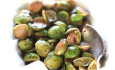 Balsamic Brussels sprouts recipe - perfect amount of sweet, even better if you let it get just a little burned