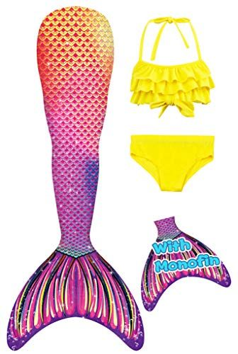 Swimmable Costume Swimsuit for Girls and Kids YITU Mermaid Tails for Swimming