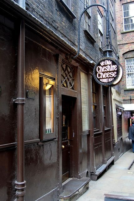 Ye Olde Cheshire Cheese --  London, England: love this place. Favorite hangout of Dickens and Samuel Johnson. Good pub food.