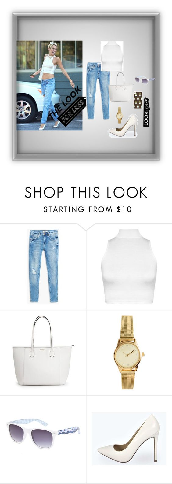 """""""Miley Cyrus Day out"""" by moeena ❤ liked on Polyvore featuring MANGO, WearAll, H&M, Full Tilt, Boohoo and LookForLess"""