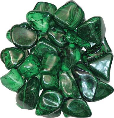 Malachite - An ancient Russian legend states the whoever drinks from a goblet made of malachite will have the power to understand the language of animals.  Soothing, balances issues between the ego and the higher self. Removes blockages.