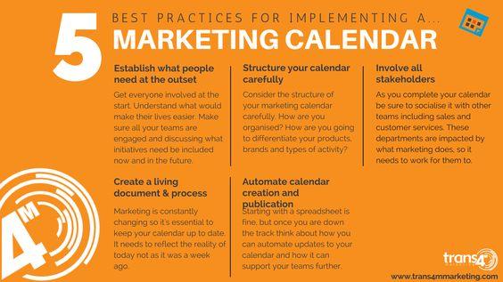 Marketing Calendar Best Practicses Marketing Stuff Pinterest - what is a marketing calendar