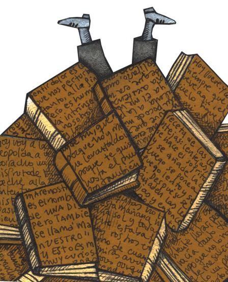 Dive into reading / Sumérgete en la lectura (ilustración de Pilar Roca):