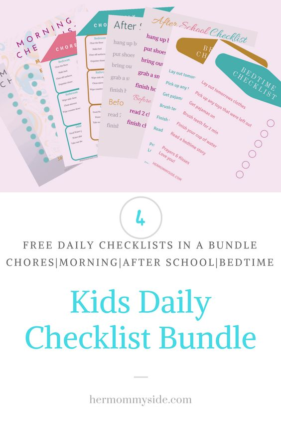 Kids Daily Checklist Bundle I Felt It Was Time For A Daily