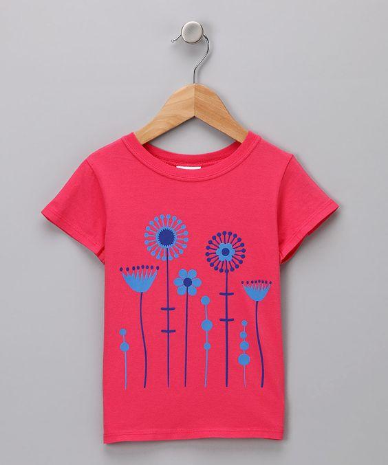 Pink & Blue Flower Tee - Toddler & Girls