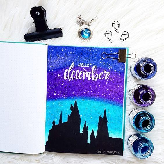30 idées pour votre page de décembre dans votre Bullet Journal - @dutch_color_love on instagram
