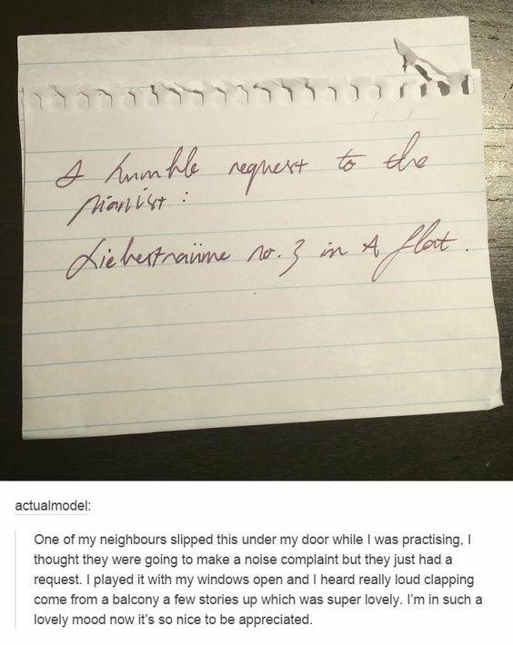 Neighborly notes aren't always negative!