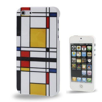 Iphone 5 Cover Karomuster bunt (harte Rückseite) von CNP