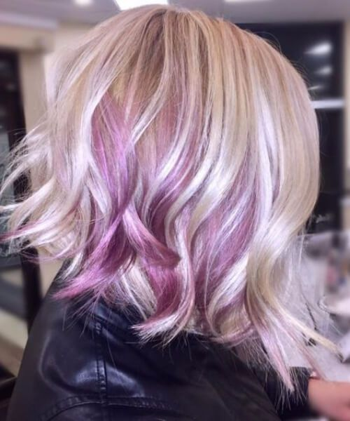 Image Result For Balayage Purple Short Hair Short Hair Balayage Thin Fine Hair Purple Blonde Hair