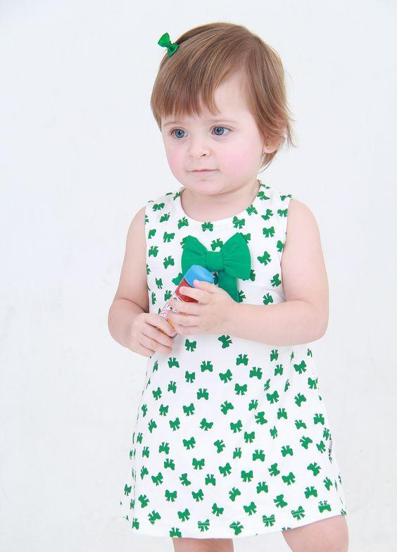 Baby Pima | Polivestido Laço Verde | 100% algodão Pima peruano