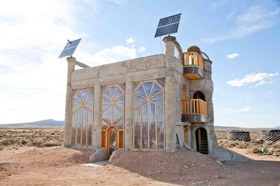 Tres Piedras is home to the Greater World Community, an assortment of 70 homes built to be entirely self-sustaining. The homes, called Earthships, are the brainchild of 68-year-old architect, Michael Reynolds.