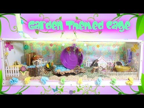 Garden Themed Hamster Cage Tooobs Youtube Hamster Cage Hamster Cages Hamster