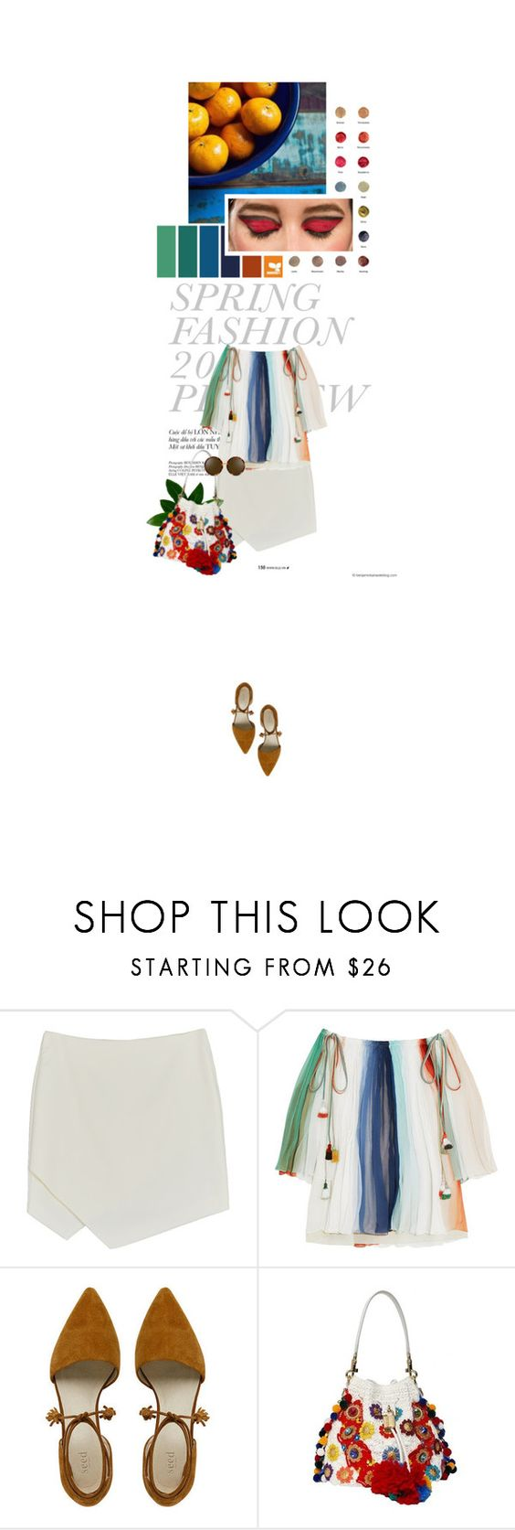 """""""5.17 Cake by the Ocean"""" by monalisas-and-madhatters ❤ liked on Polyvore featuring Seed Design, Chloé, La Petite Robe di Chiara Boni, Dolce&Gabbana and Linda Farrow"""