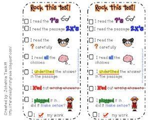 test taking bookmarks