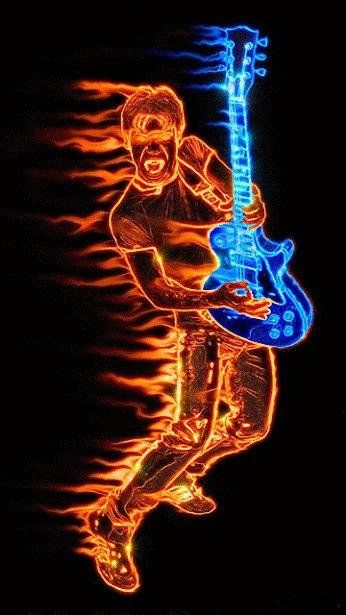 Buy 1 Get 1 Free Coupon BOGO18! Fractal Neon Man with Guitar Modern Cross Stitch Pattern Counted Cro