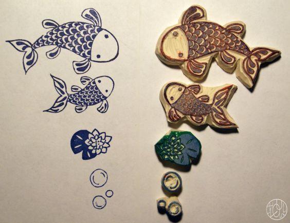 A stamp a week 18/52 - Comme un poisson... Dans ma petite roulotte