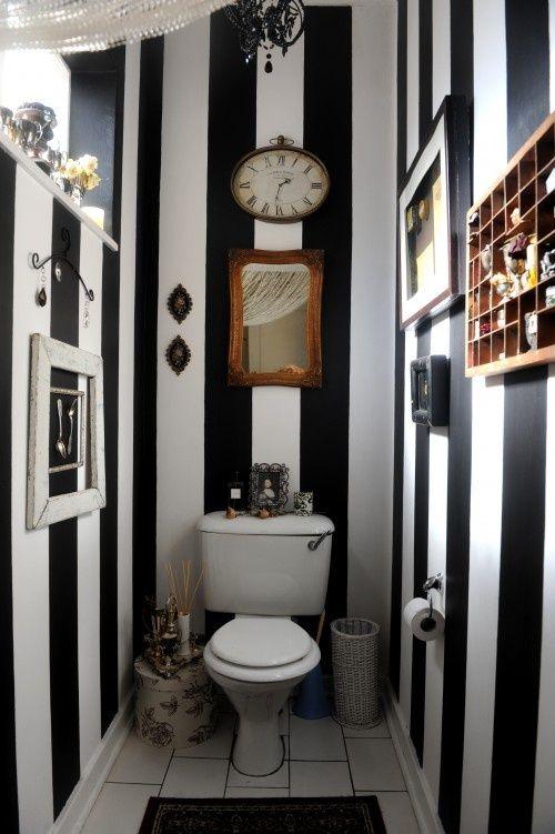 Salle de bain noir et blanc - Idées design | BricoBistro
