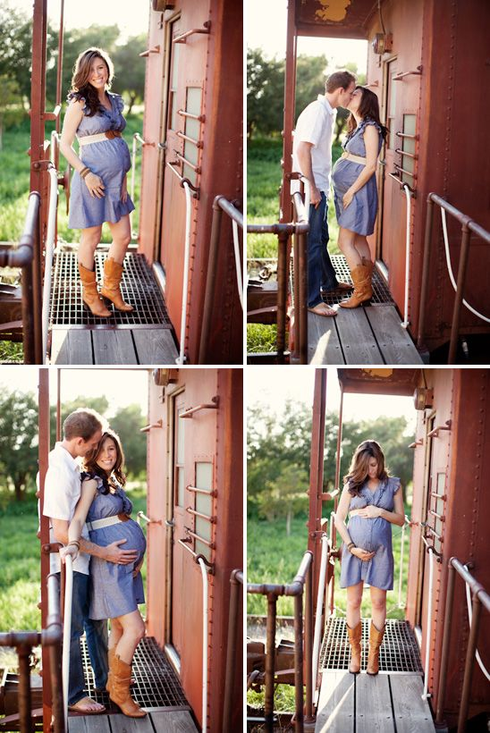These photos are so sweet!  My favorite outfit during pregnancy has been this dress and my boots, so we'll have to find somewhere cute to do this!