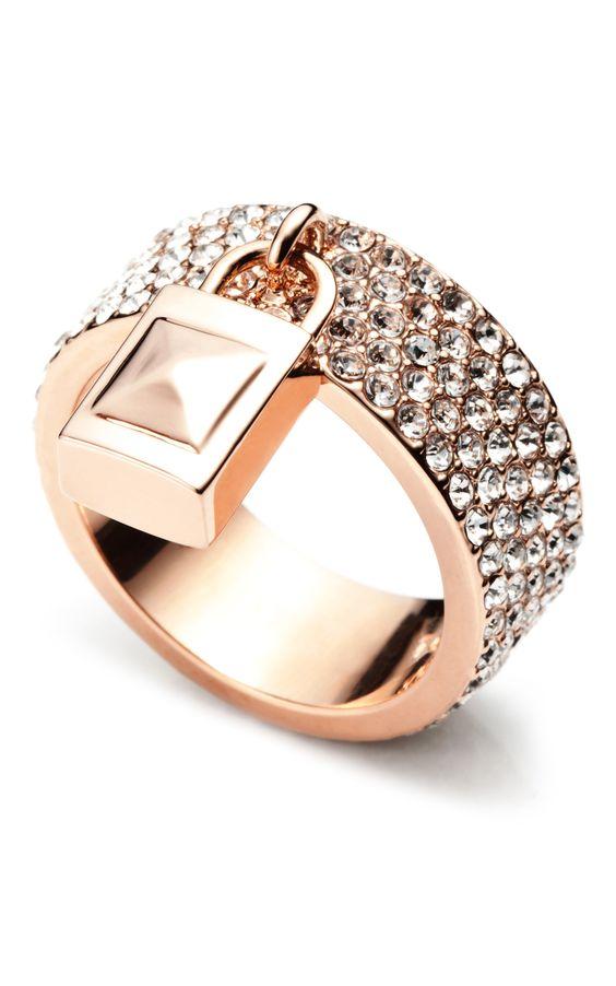 Pavé Padlock Ring