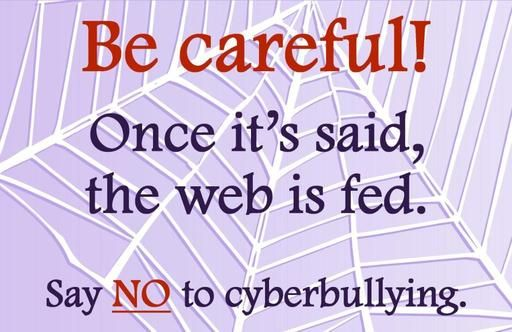 Say no to cyber bullying. THINK before you type. | Use ...