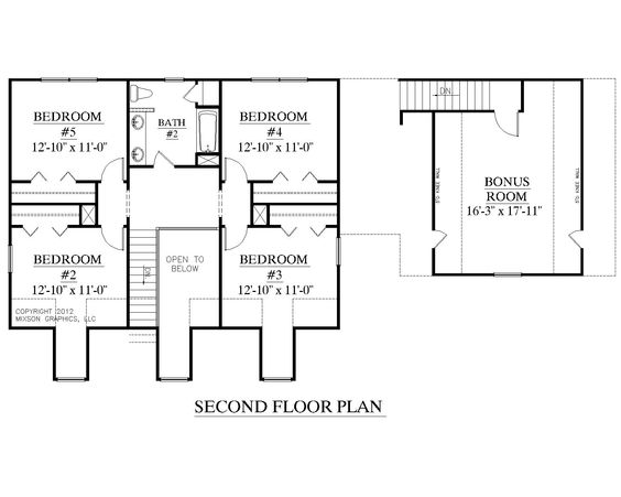 House Plan 2341 A MONTGOMERY A Second Floor Plan Traditional 1