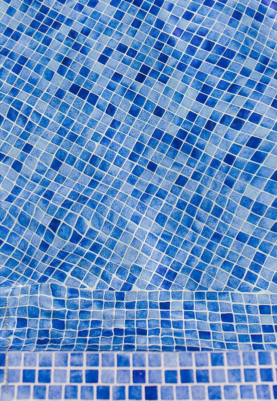 Background Texture And Abstract Geometric Pattern Of Blue Mosaic