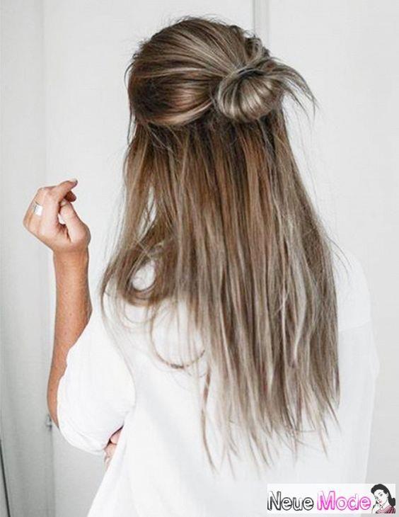 Halboffene Frisur Neue Halboffene Frisuren 2019 Abiball Frisuren Halboffen Brautfrisur Halboffen F Lazy Day Hairstyles Five Minute Hairstyles Hair Styles