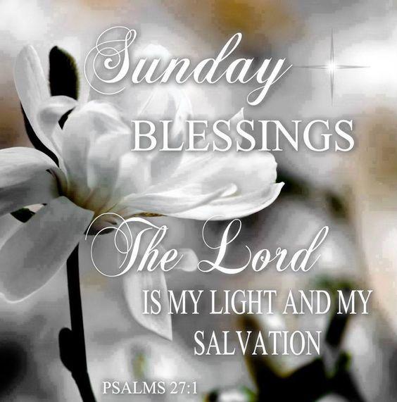 Sunday Blessings!✨Psalms 27:1✨