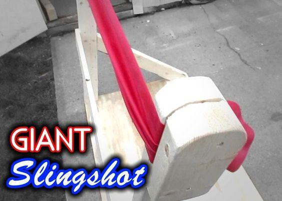 Make a Giant Slingshot using 2x4's