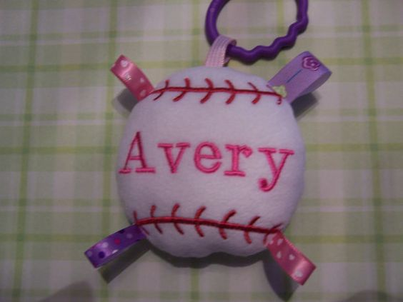 GIRL    BaseBall Baby Toy    TOY by deborahbabarskas on Etsy, $6.00