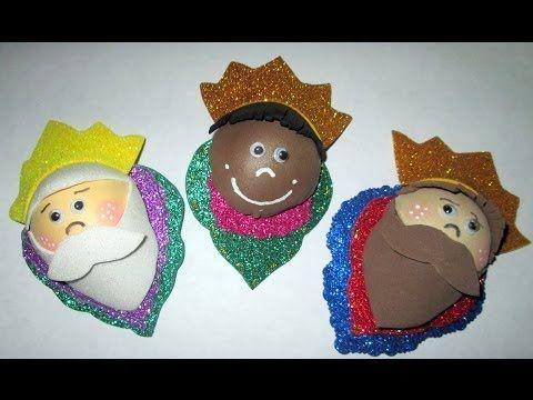 Hecho en casa: como hacer broches navideños (reyes magos ...