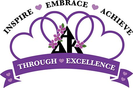 """2015-2017 International President Ruth Ann Griggs' logo cards (""""Embrace,"""" """"Achieve,"""" """"Inspire"""") from Convention ❤️"""