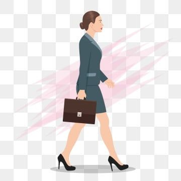 Side View Of A Business Woman Walking Forward Walking Business Woman Png And Vector With Transparent Background For Free Download Business Women Girls Illustration Women