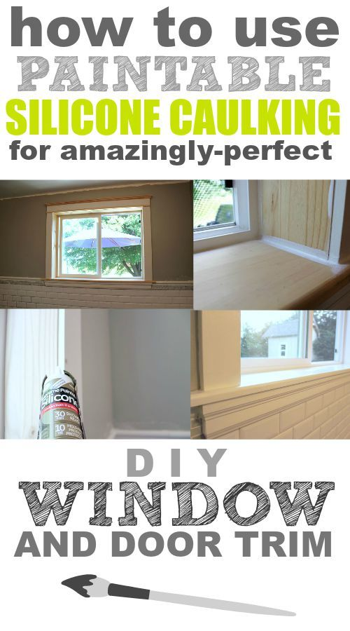How to use paintable caulking for amazingly perfect window for House friend door